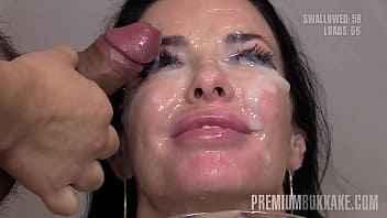 Imagen Die vollbusige Veronica Avluv bekommt 66 Cumshots in den Mund
